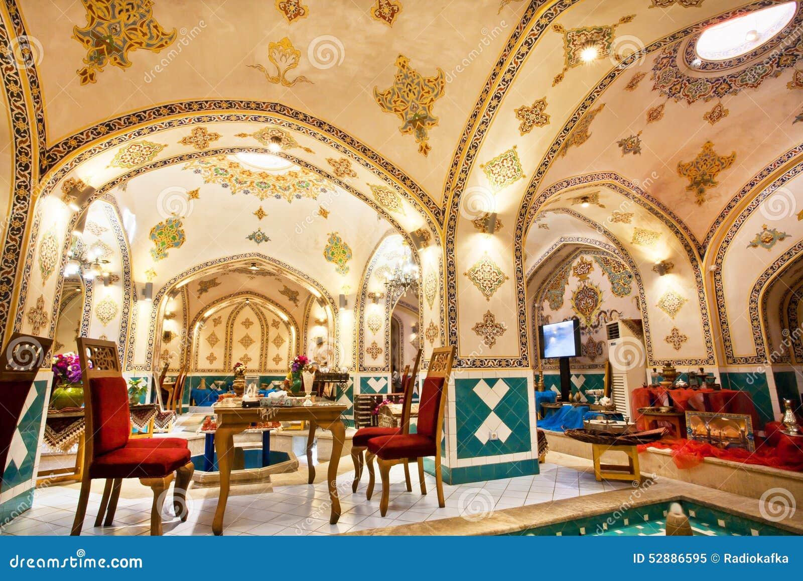 Mobilia d 39 annata dentro il ristorante persiano immagine for Mobilia download