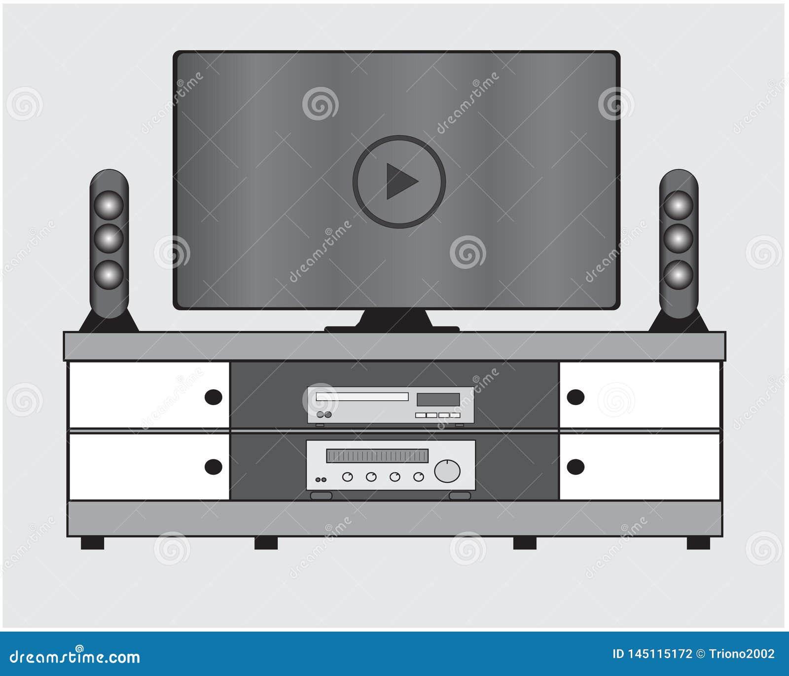Mobilia della televisione a casa