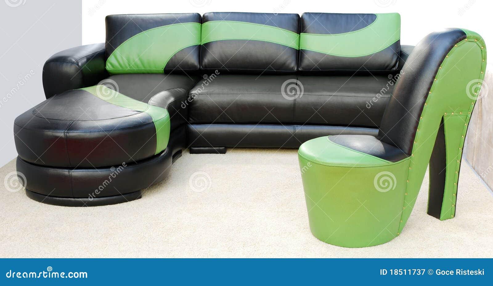 Mobilia di cuoio moderna immagine stock immagine di cuoio for Mobilia 9 6