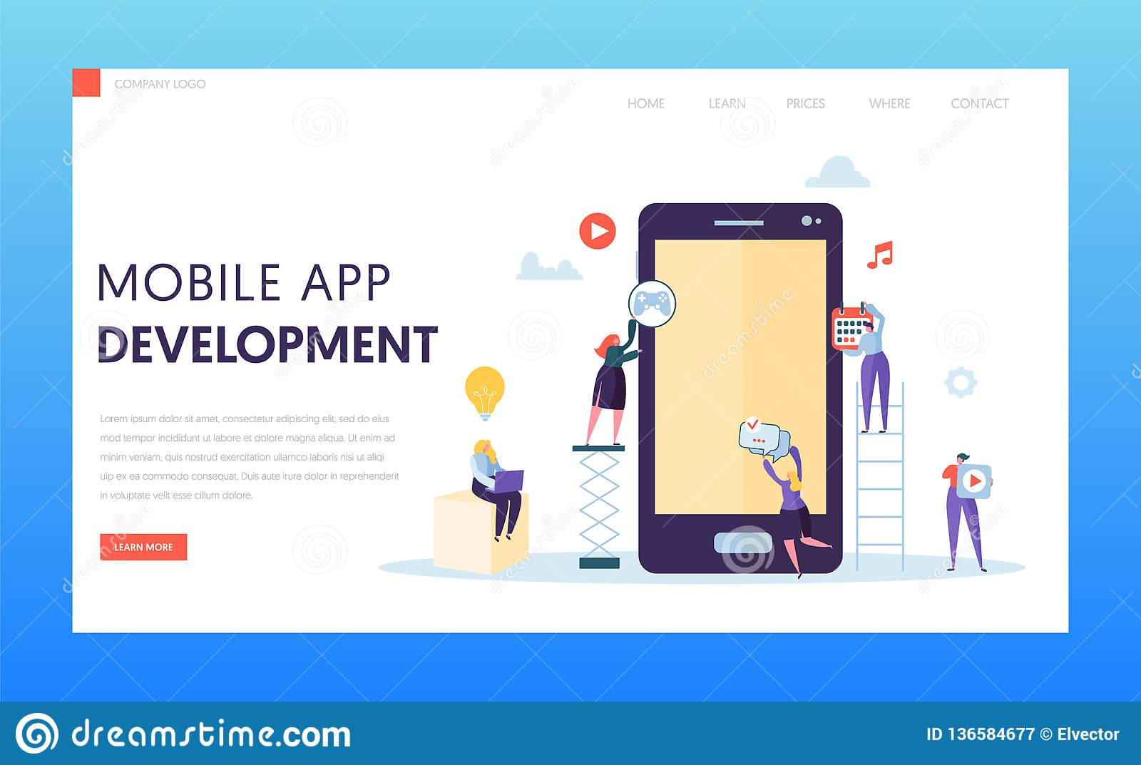 Mobilna App rozwoju Ab testa lądowania strona Deweloper Oprogramowania charakter Zapewnia Ux innowacji projekt dla zastosowania