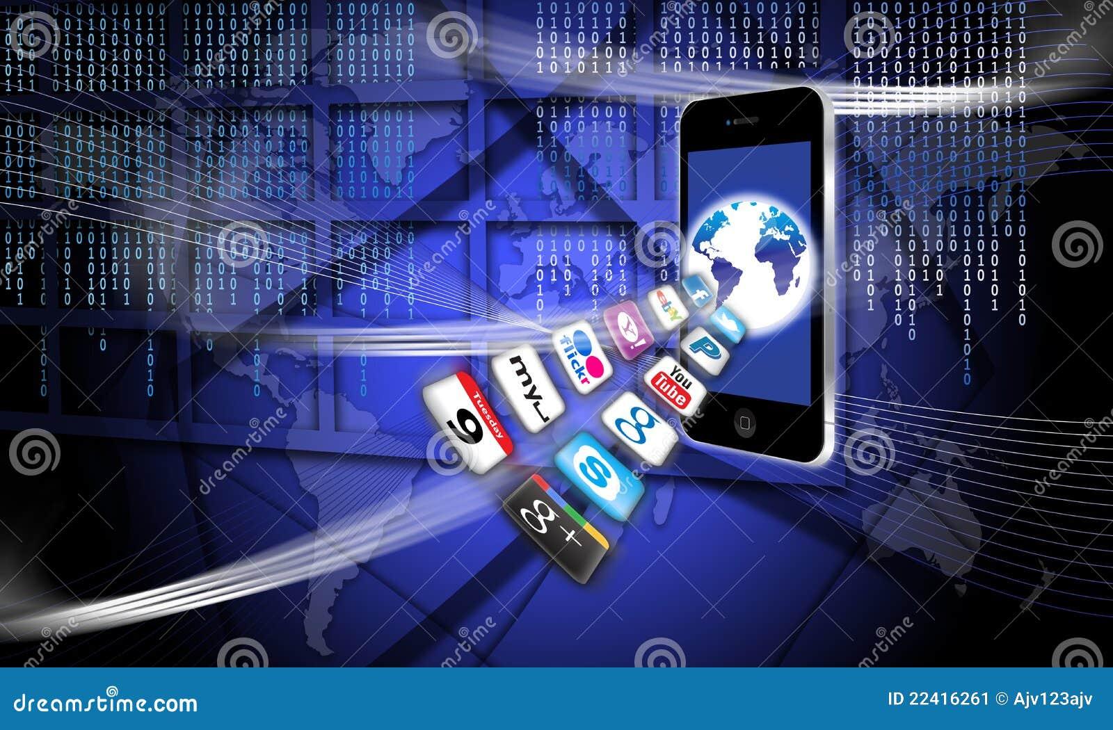 Mobilna apps sieć zabezpieczać radio