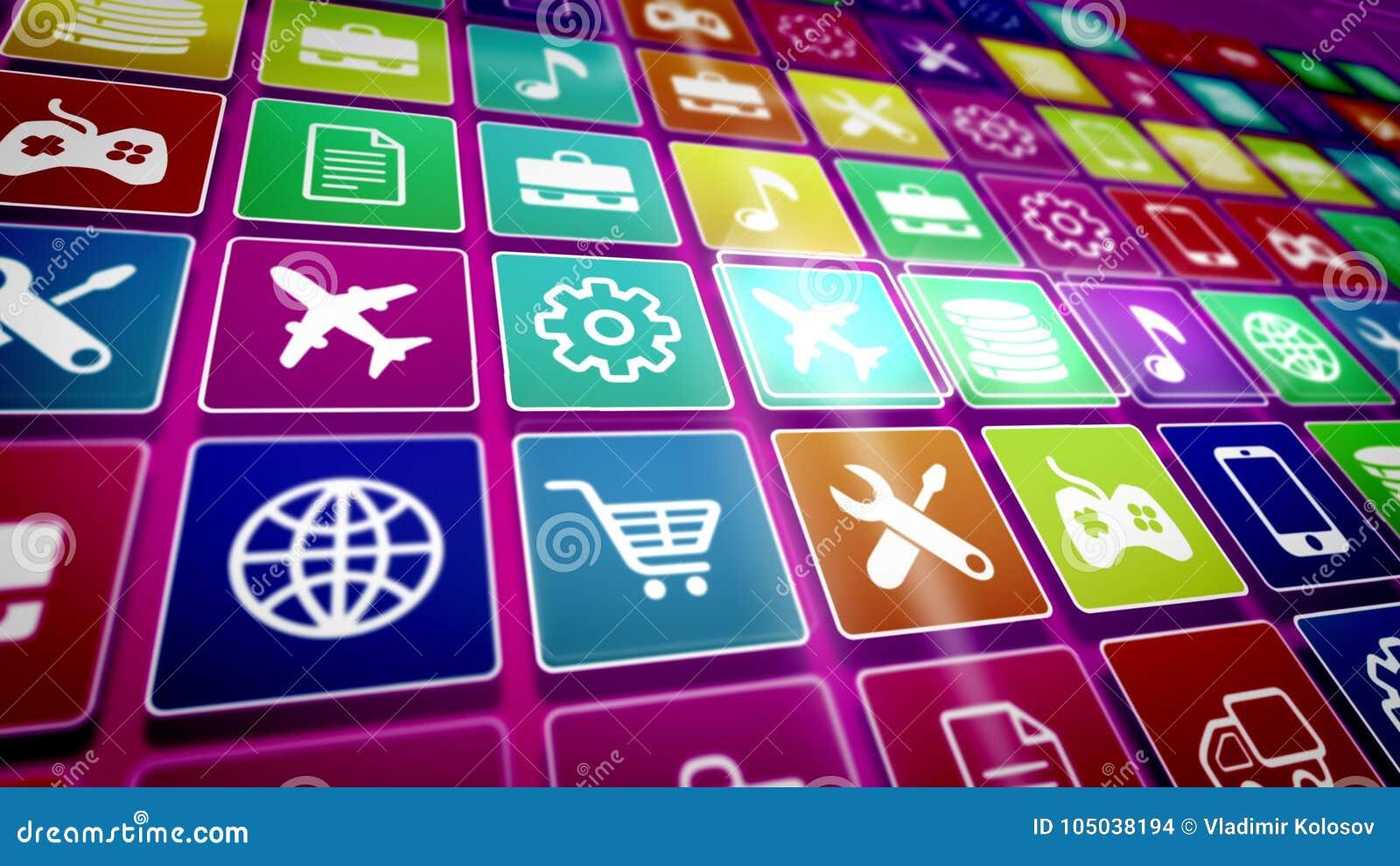 Mobilny Podaniowy ikona ekran