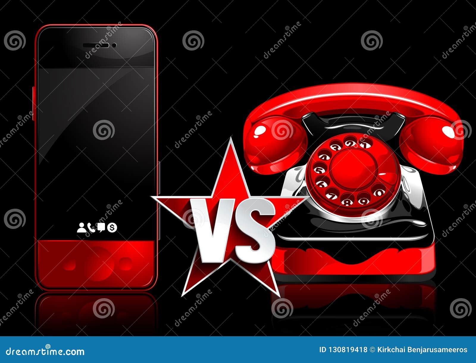 Mobiltelefon vs den retro telefonen