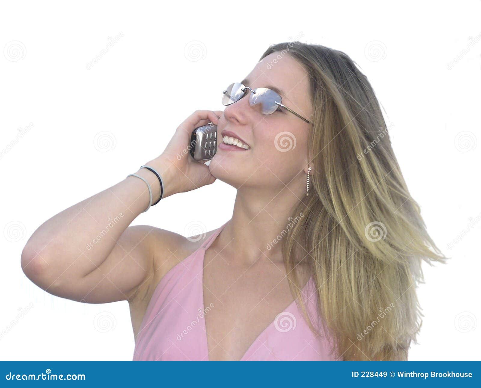 Mobiltelefonflicka