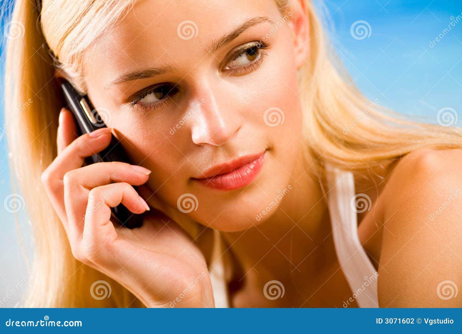 Mobiltelefonkvinnabarn