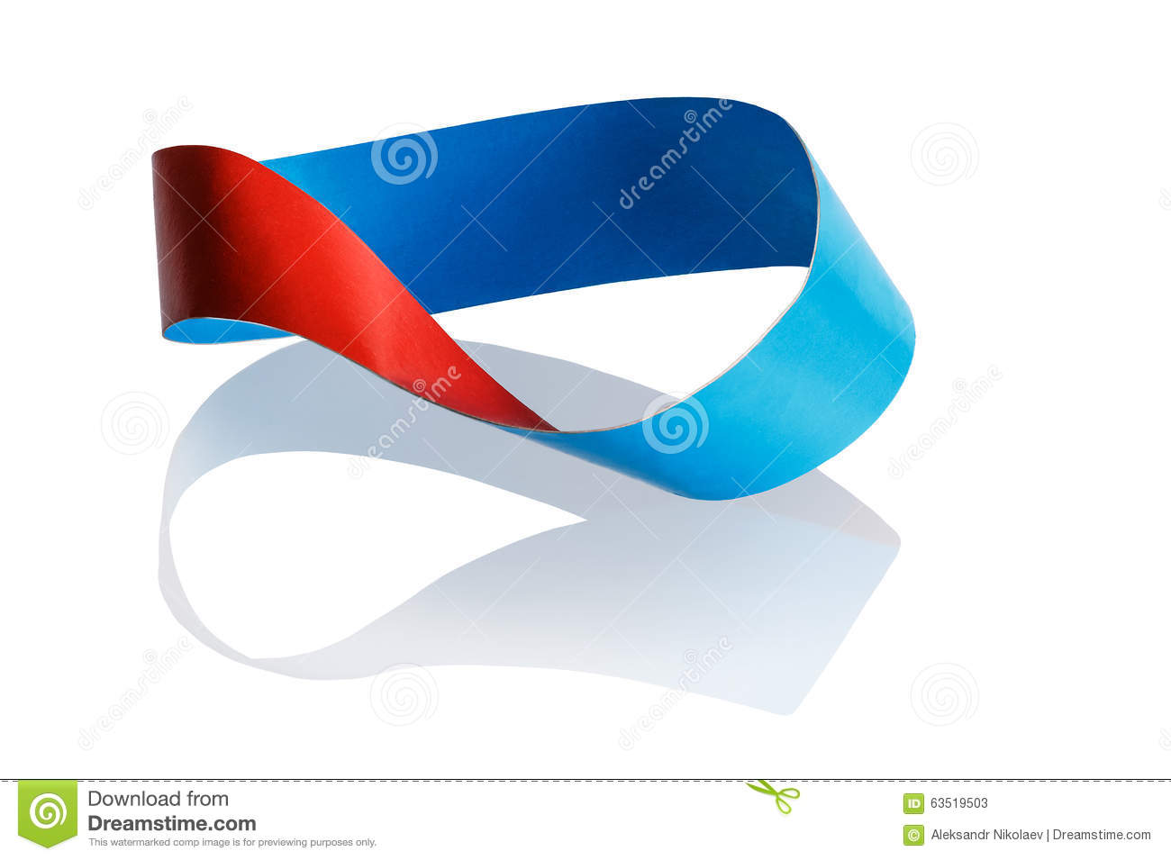 Mobius strip one side
