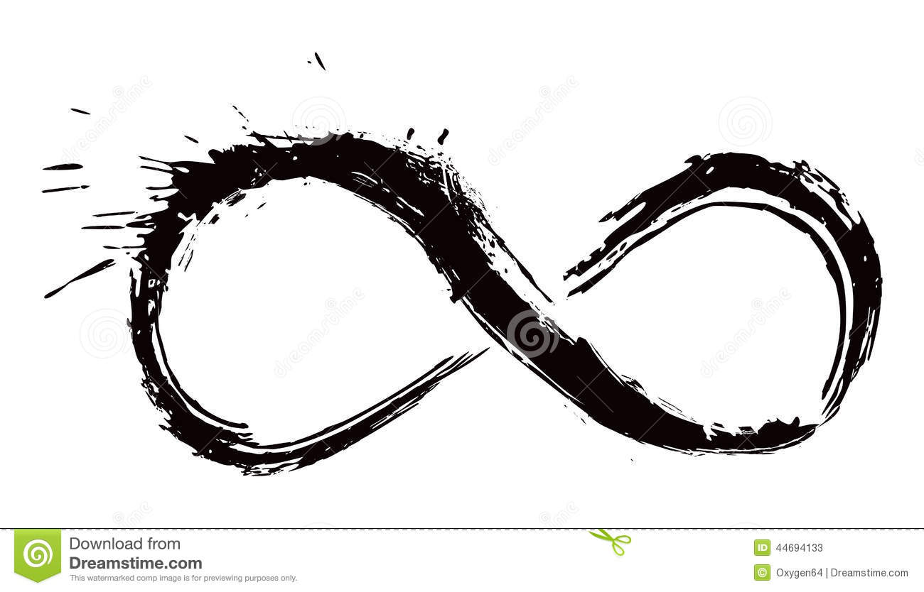 The infinity symbol drawn in black on a brick wall stock image infinity symbol mobius strip stock photos buycottarizona Image collections