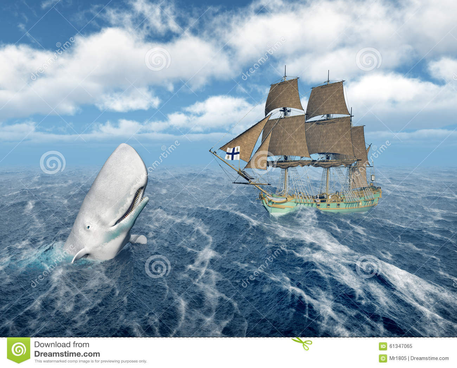 sperm whale sailboat