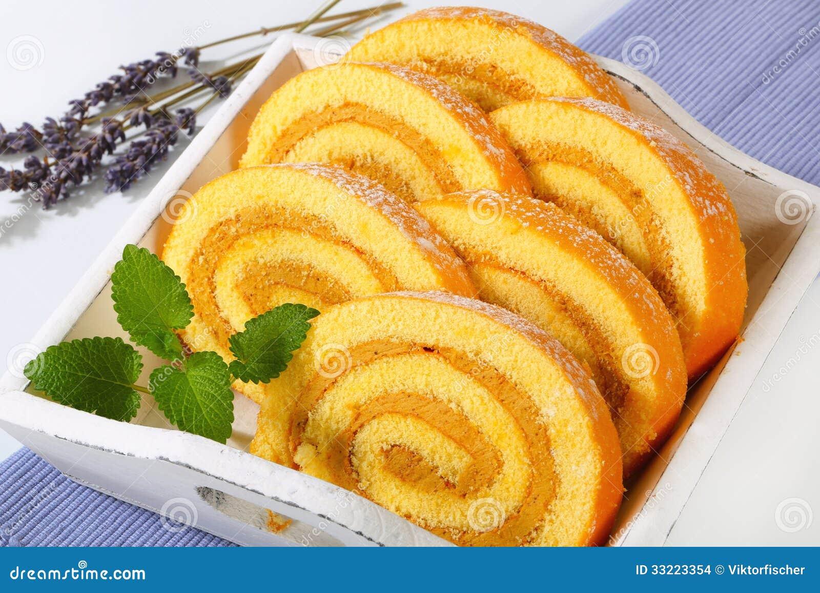 Orange Swiss Roll Cake Recipe