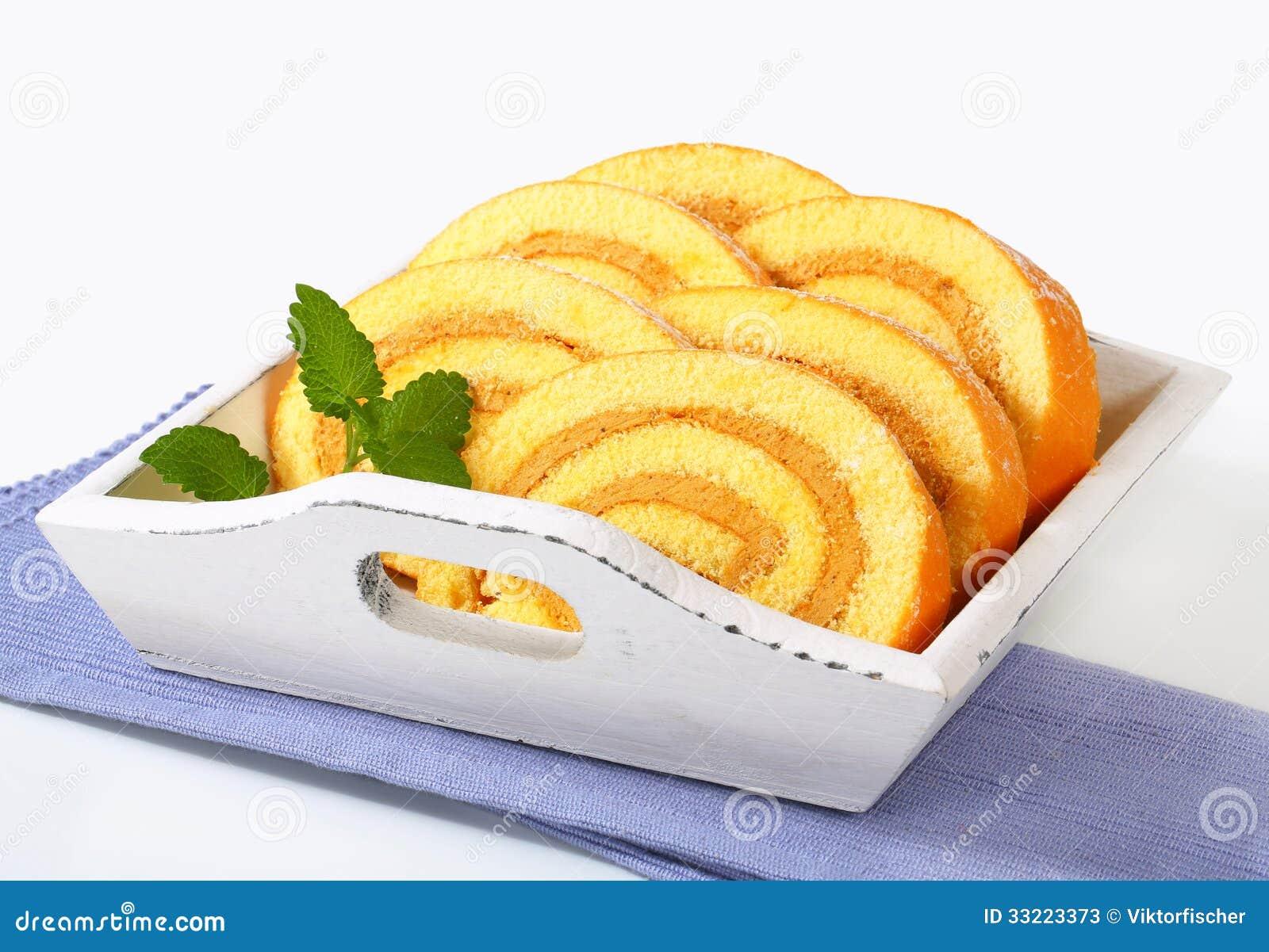 Mocha Sponge Cake Roll