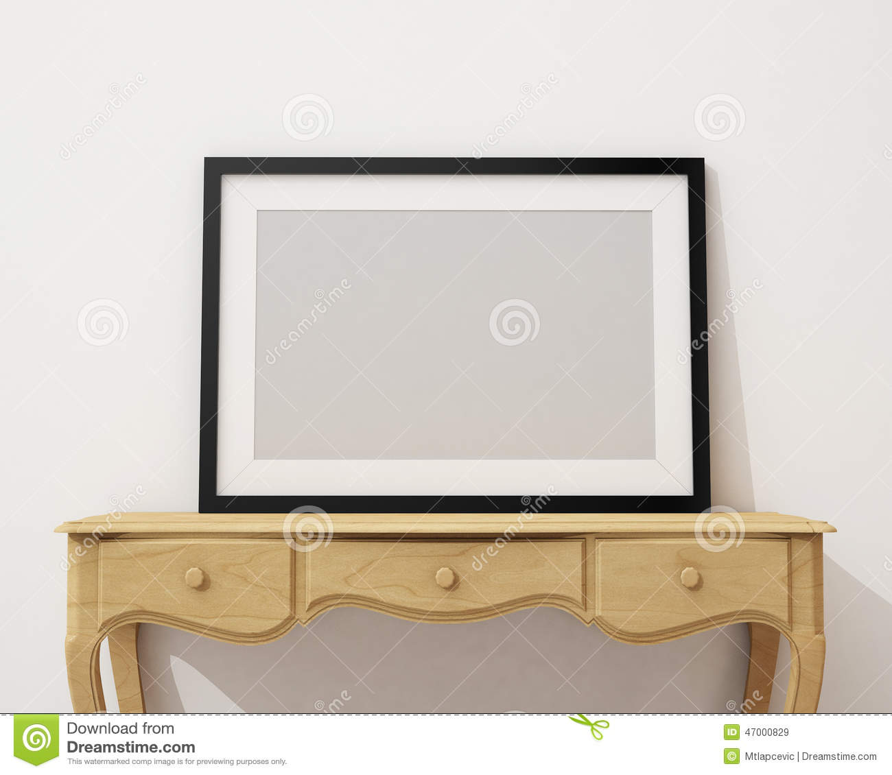 blank picture frames on a simple modern desk stock photo  image  - mock up blank black picture frame on the white desk and wall backgroundroyalty free