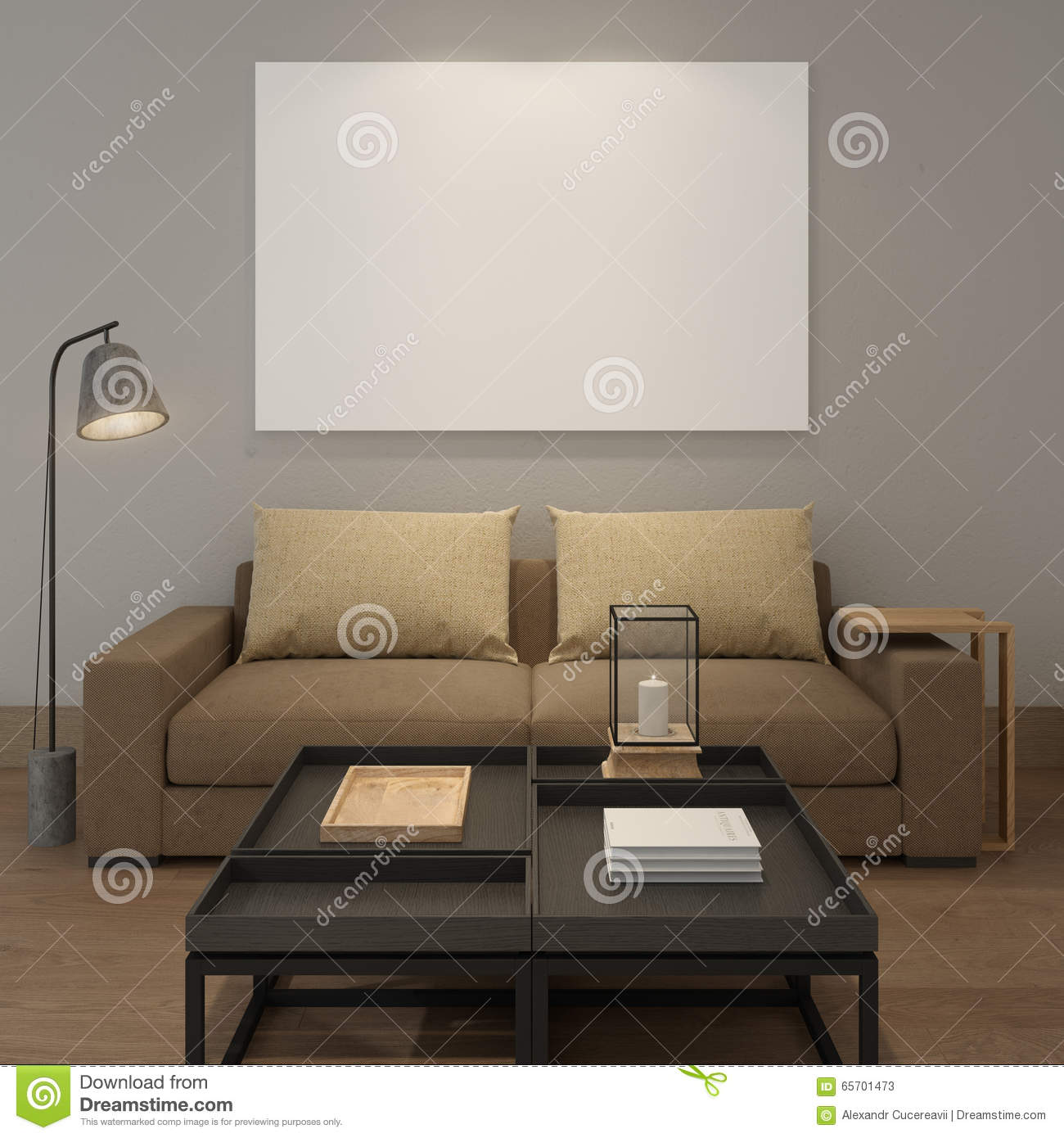 Living room grey walls