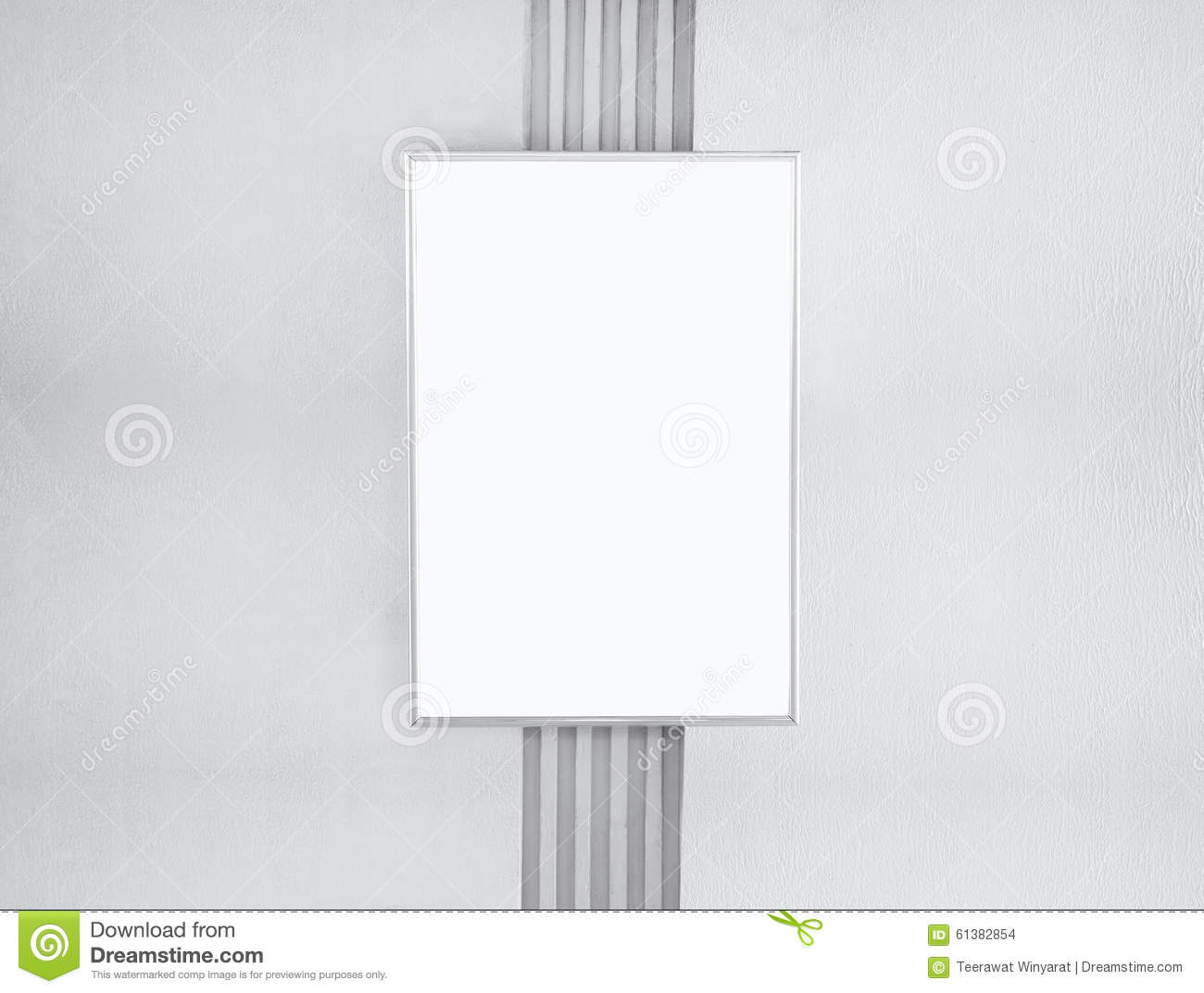 mock up blank poster template frame on wall stock photo image of