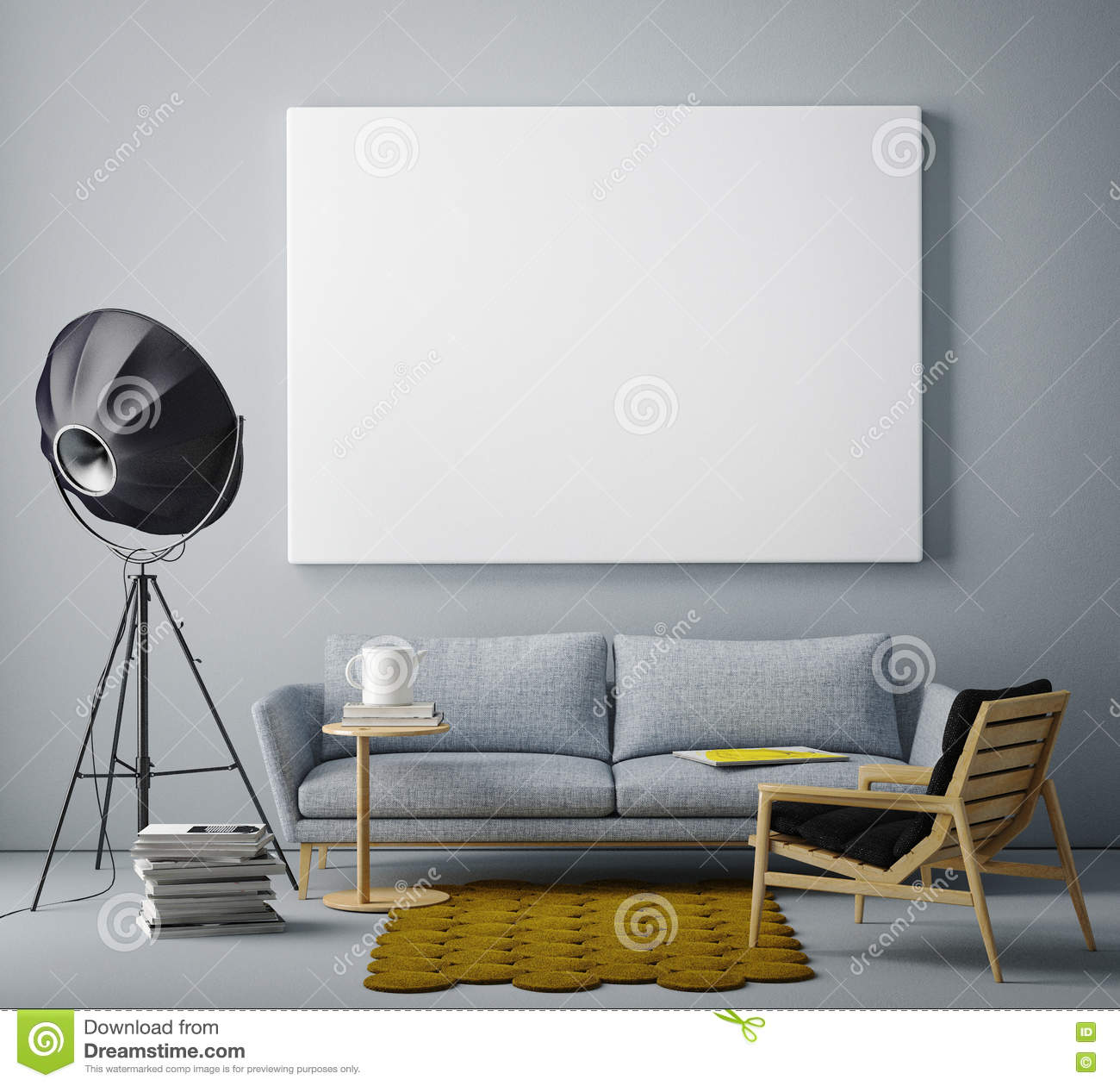 blank living room wall mock up blank poster on the wall of livingroom stock 16378