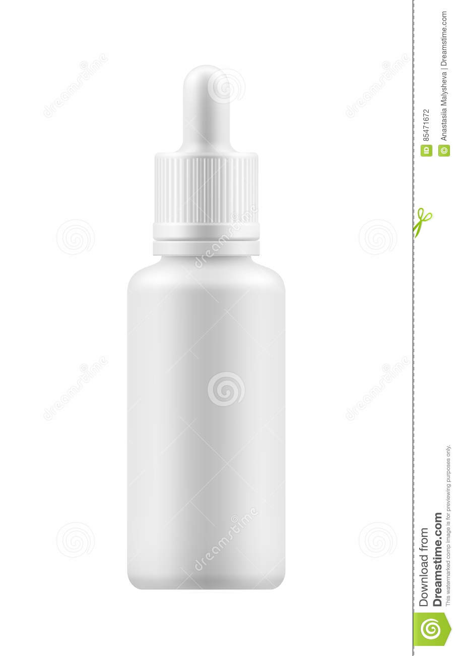 Mock-up of bottle with dropper