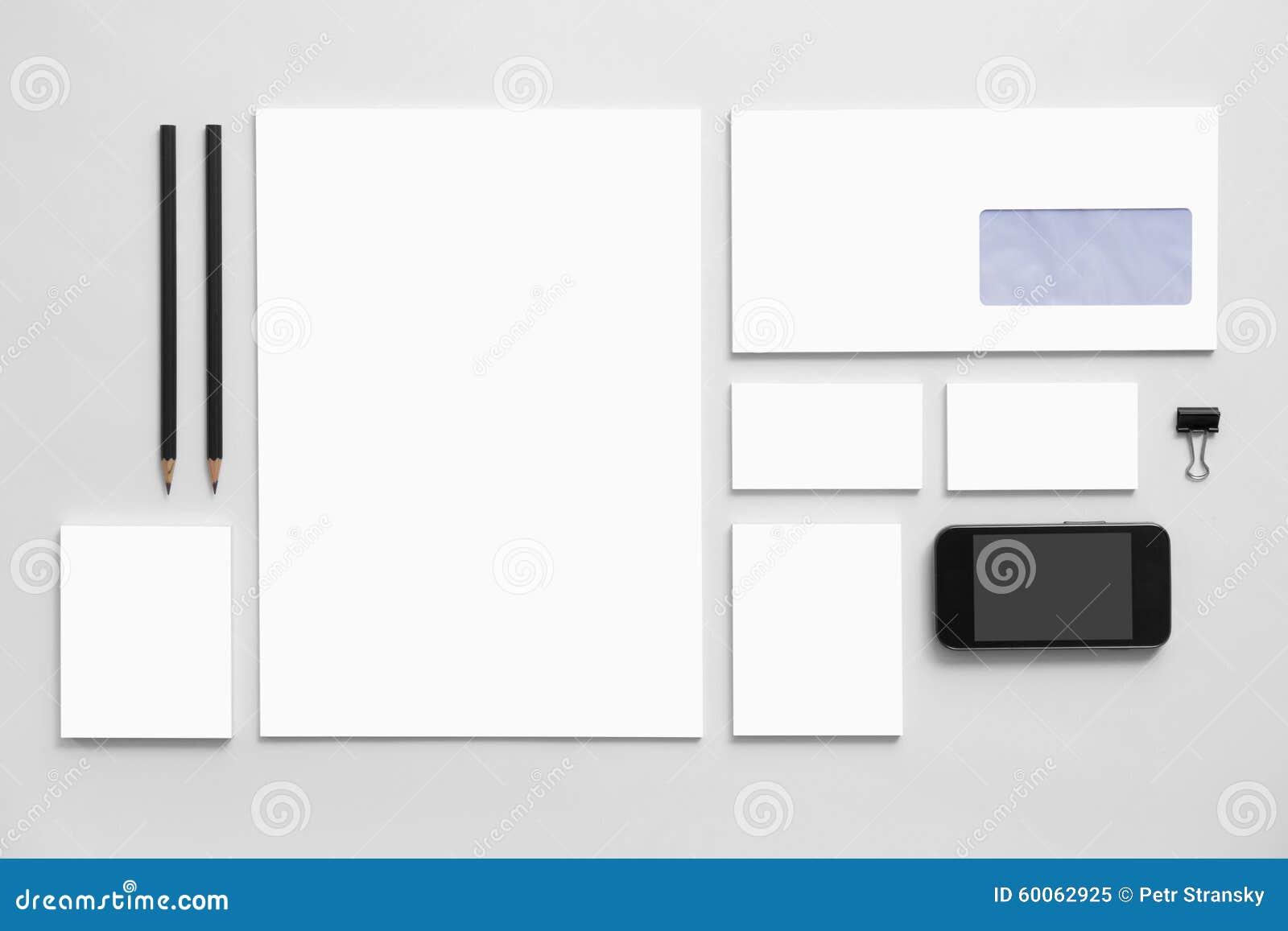 mock up business branding template on gray stock image image 60062925. Black Bedroom Furniture Sets. Home Design Ideas