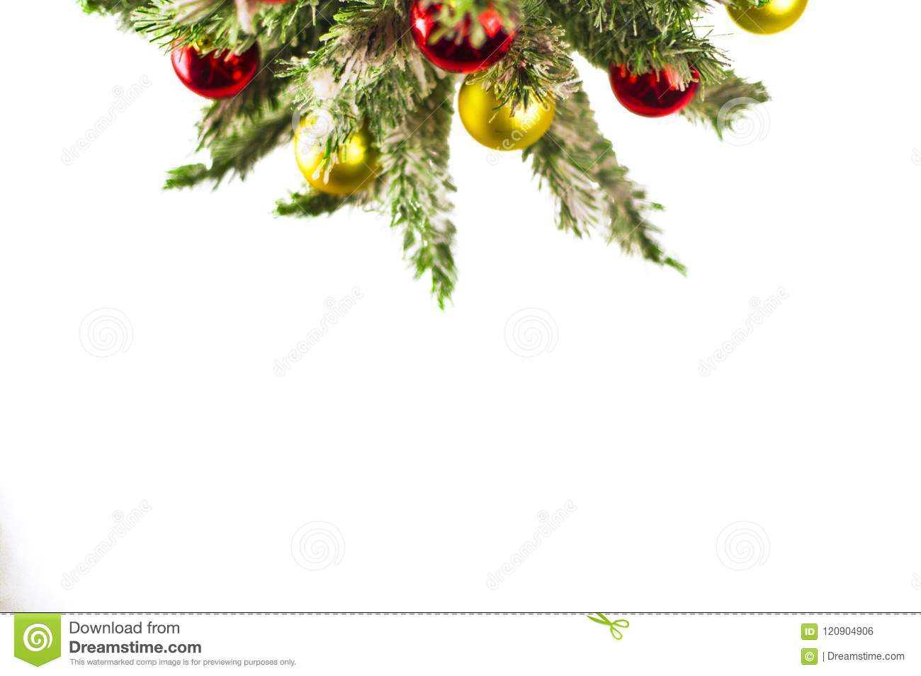 mock up with christmas tree christmas or new year border