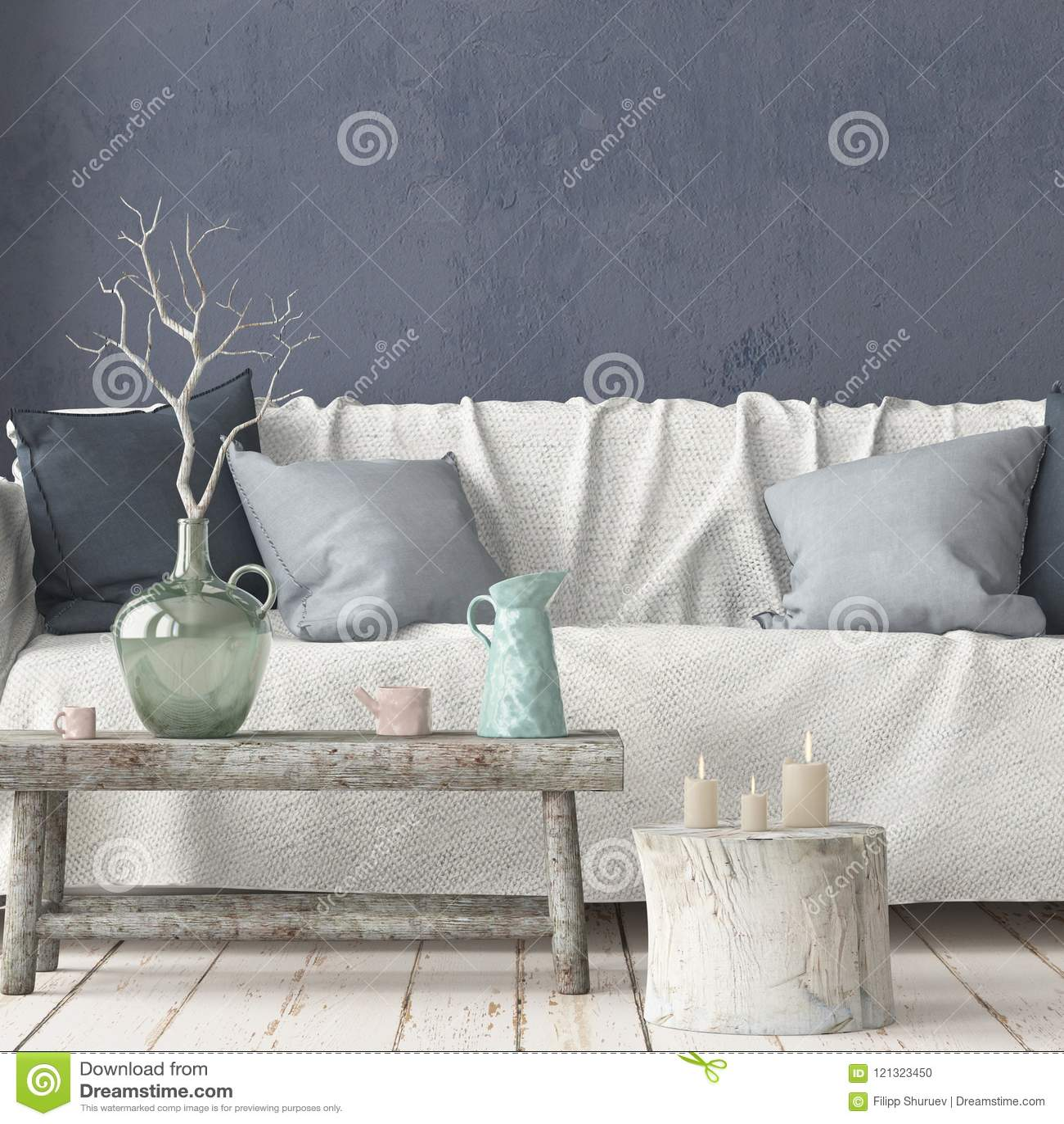 Super Mock Up Interior In Scandinavian Style With A Sofa 3D Uwap Interior Chair Design Uwaporg