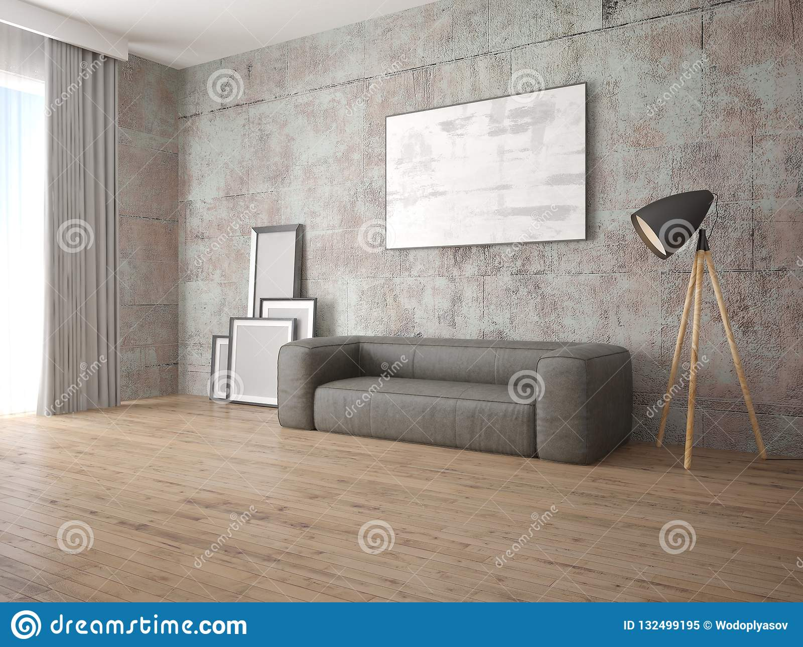Sensational Mock Up Living Room In A Modern Style With A Comfortable Pabps2019 Chair Design Images Pabps2019Com
