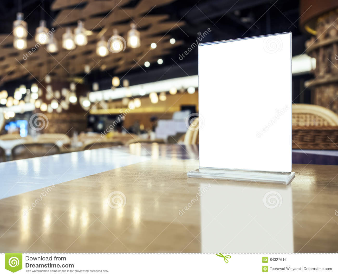 Mock Up Menu Table Top Bar Restaurant Cafe Event Party Stock Photo Image Of Dining Menu 84327616