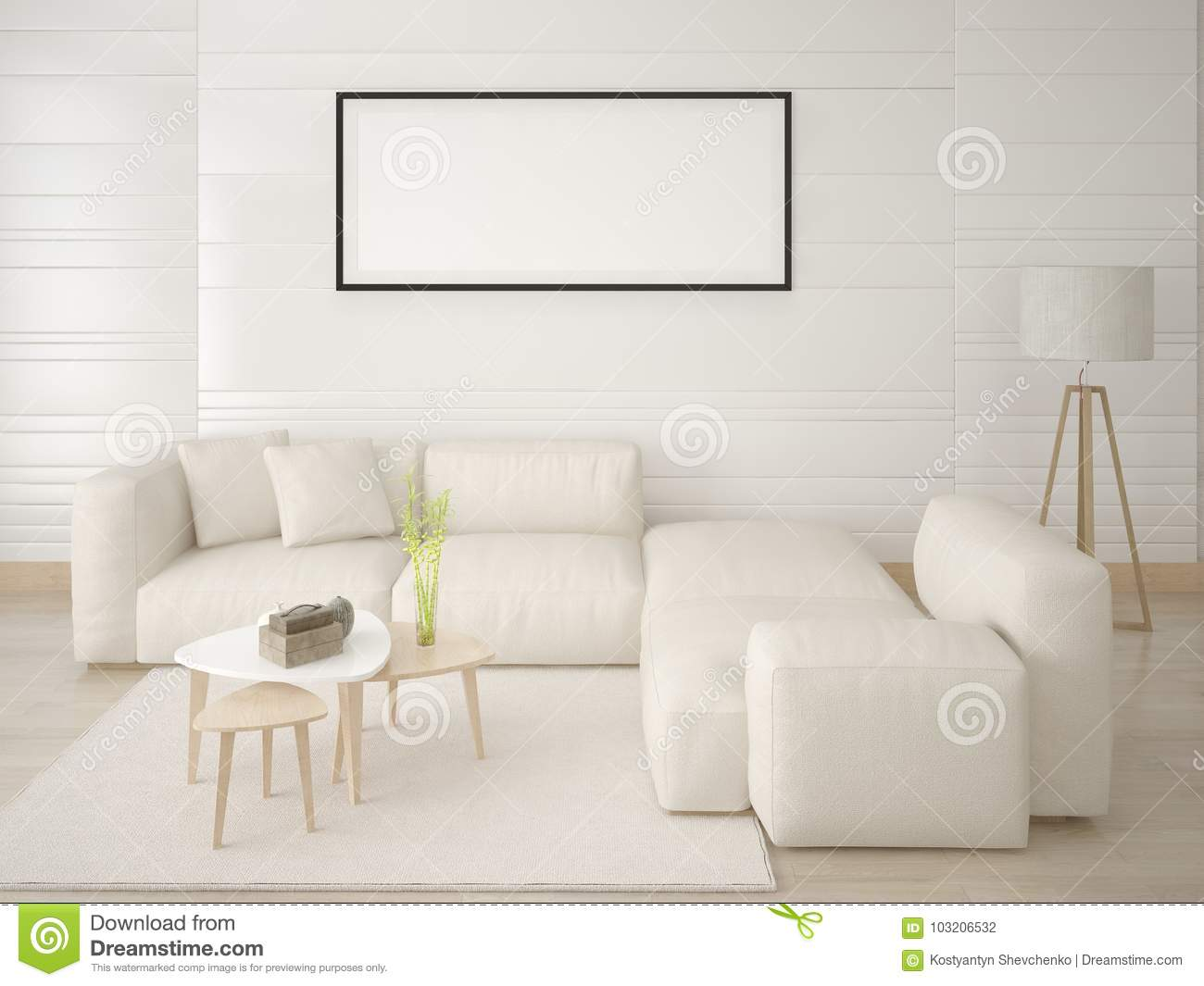 save off 7634a 26bfe Mock Up A Modern Living Room With A Comfortable Corner Sofa ...