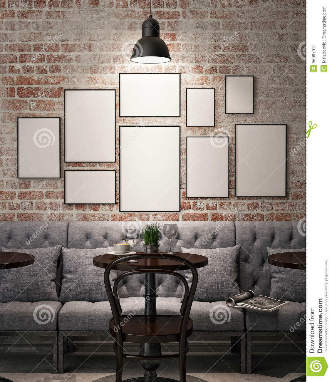 Mock up poster frames stock illustration image