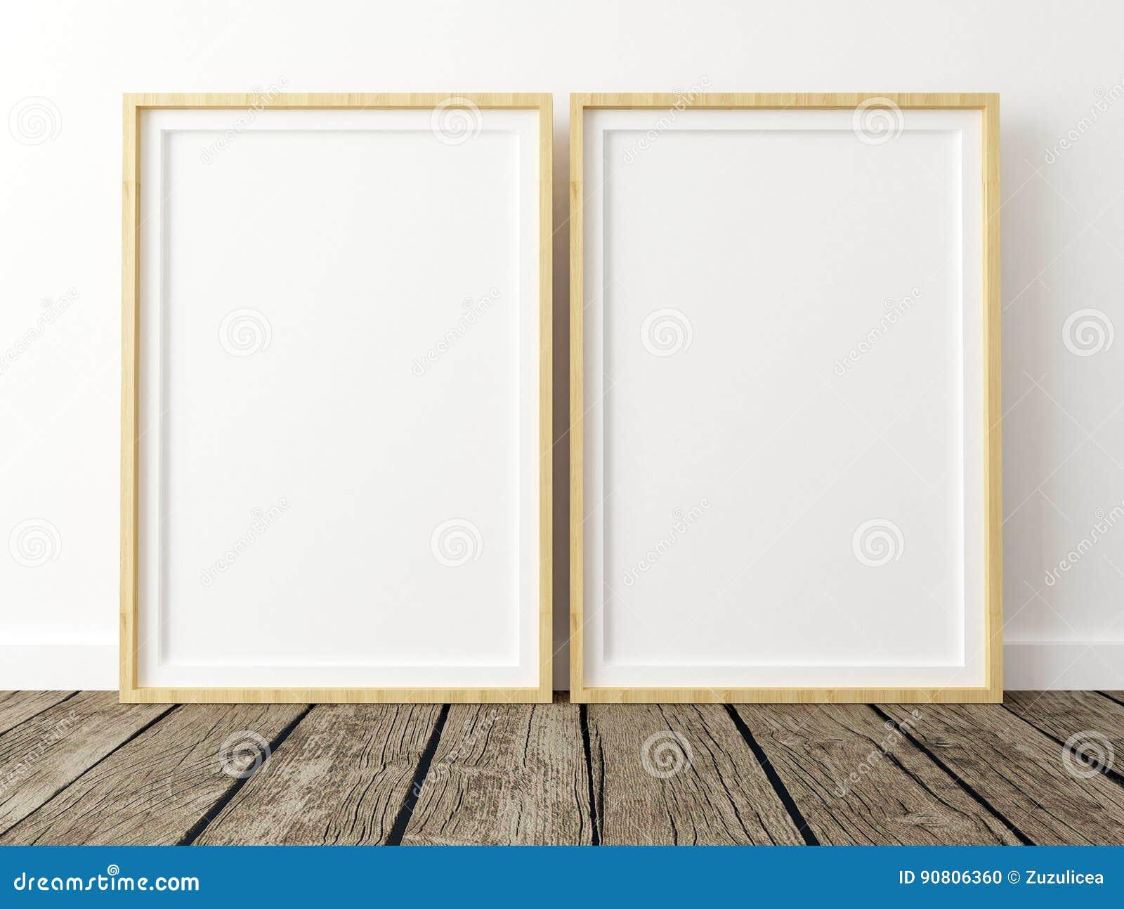 Mock Up Poster, Set Of 2 Frames Stock Illustration - Illustration of ...