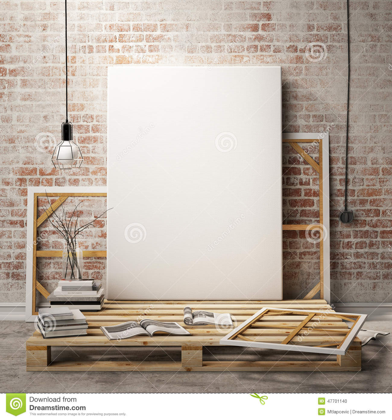 cfb35e3f4c4 Mock Up Posters Frames Stock Illustrations – 151 Mock Up Posters Frames  Stock Illustrations