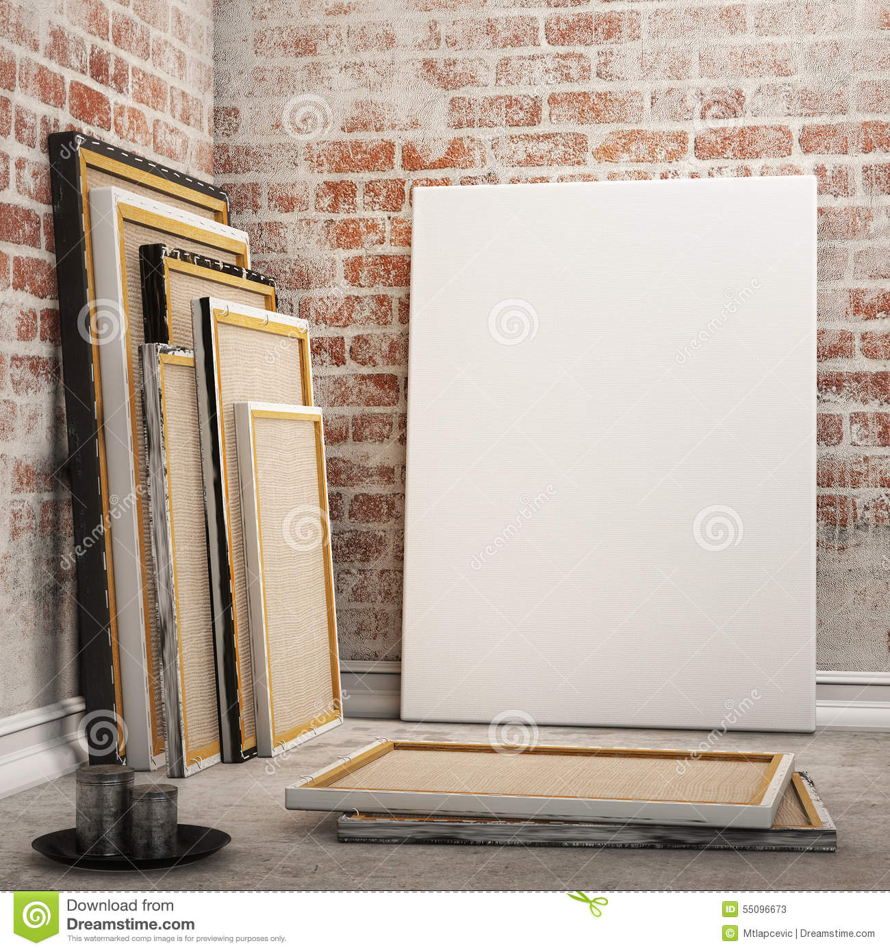 mock up posters frames stock photos