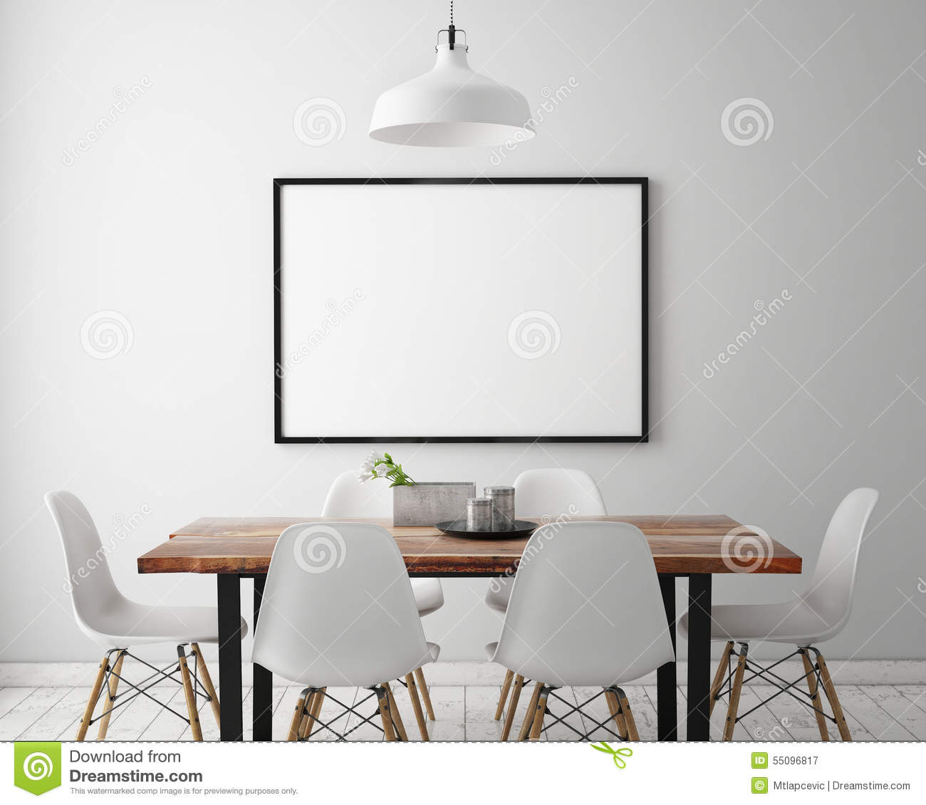 Mock Up Posters Frames Stock Illustration Image Of