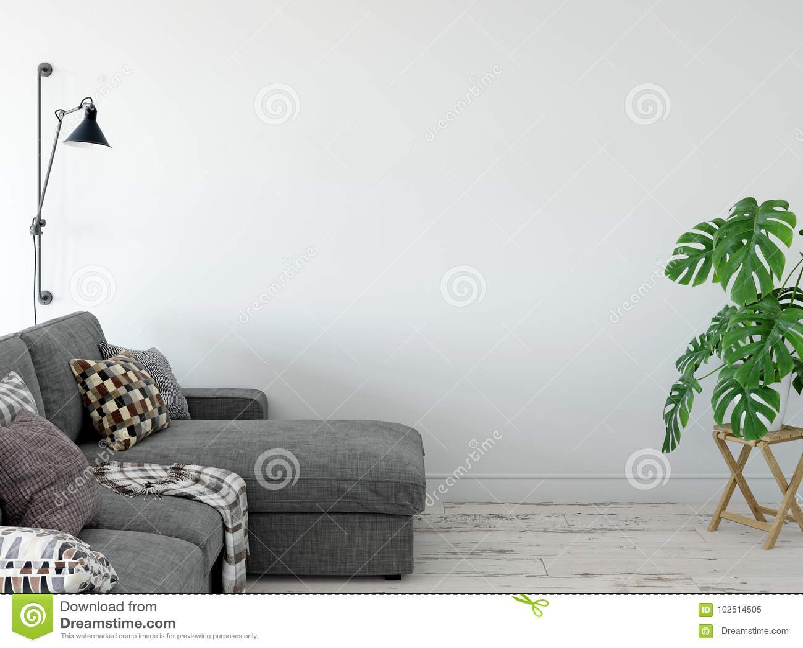 Mock Up Wall Interior. Wall Art. 12d Rendering, 12d Illustration