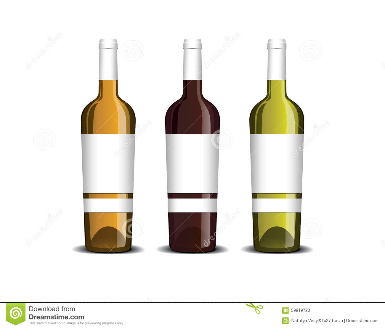 Mock-up Of The Wine Bottle With Label Stock Vector ...