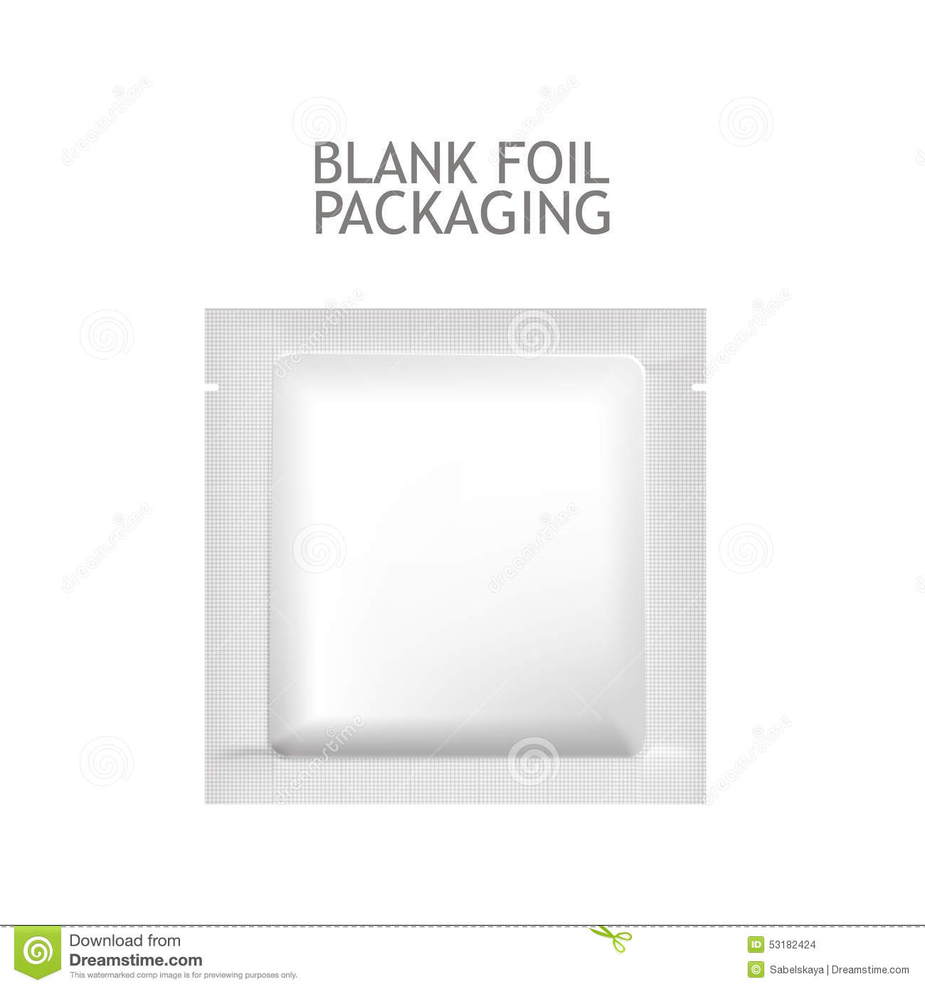Packaging Foil For Cosmetics Probe. Stock Vector - Illustration of ...