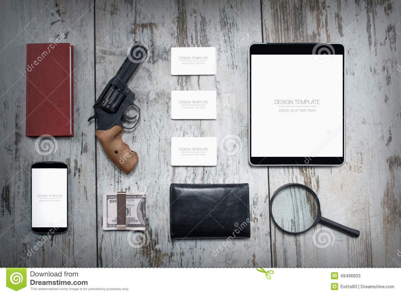 mockup business template. detective agency stock image - image, Presentation templates