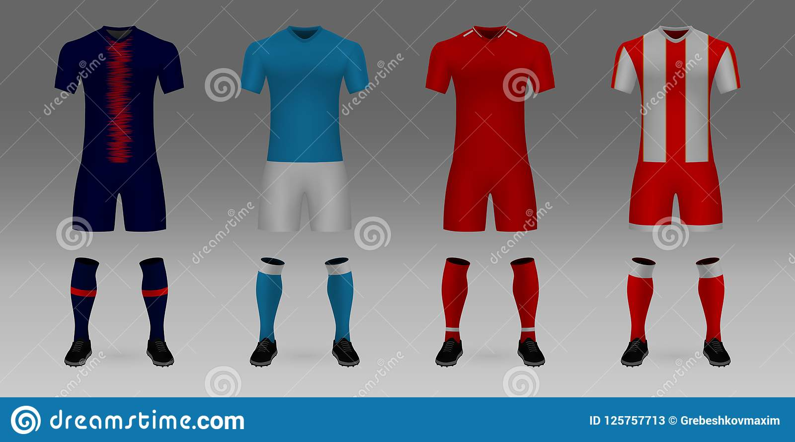 f72016835 Mockup Of Football Team Uniform Stock Vector - Illustration of ...