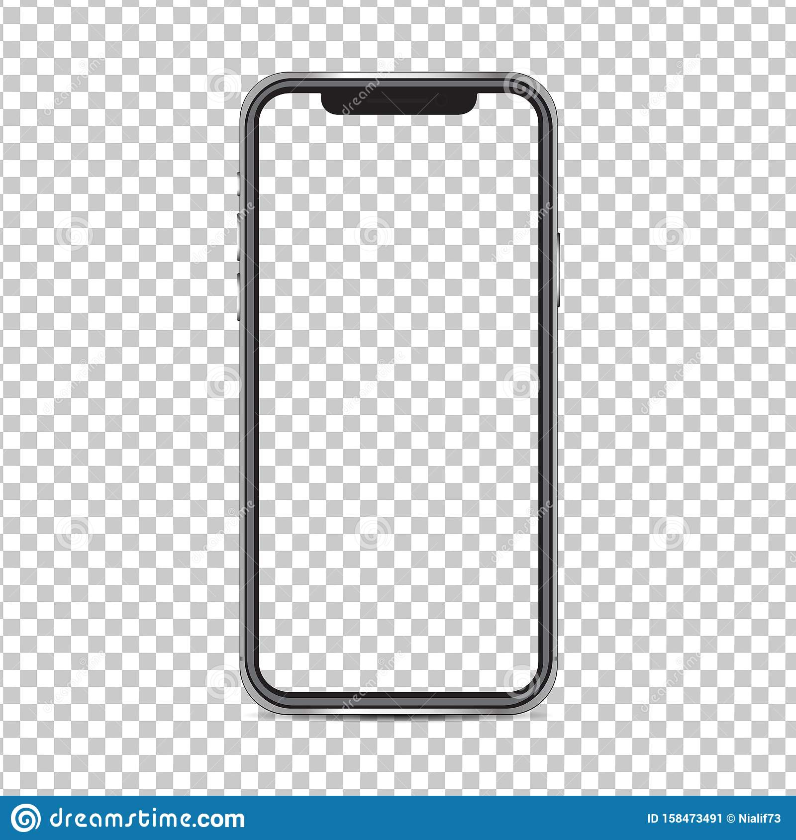 Mockup Iphone X Screen And Background Have Png Isolated On Background Stock Illustration Illustration Of Applications Depending 158473491