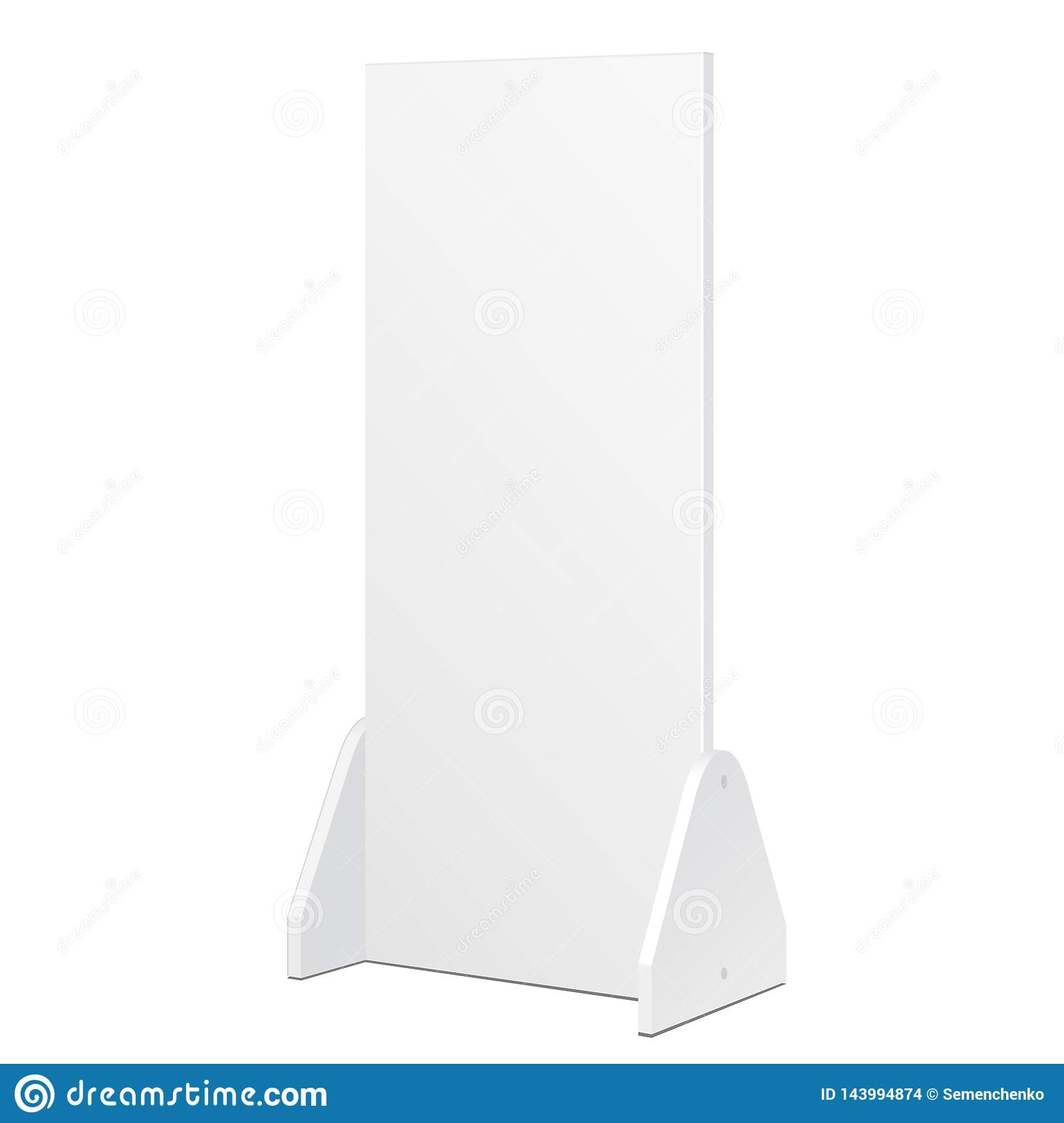 Mockup, Mock Up Simple Outdoor Indoor Stander Advertising Stand Banner Shield Display. Mock Up Products Isolated.