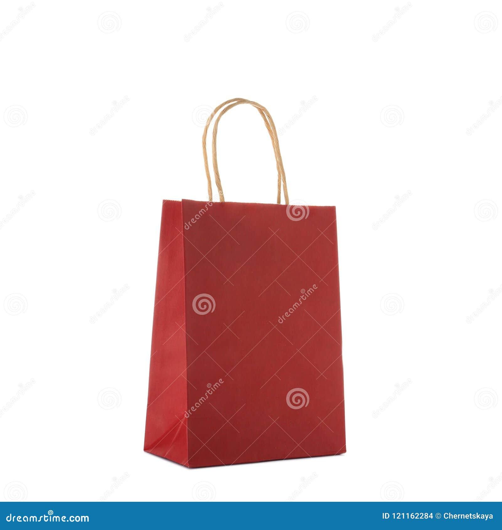 Mockup of paper shopping bag