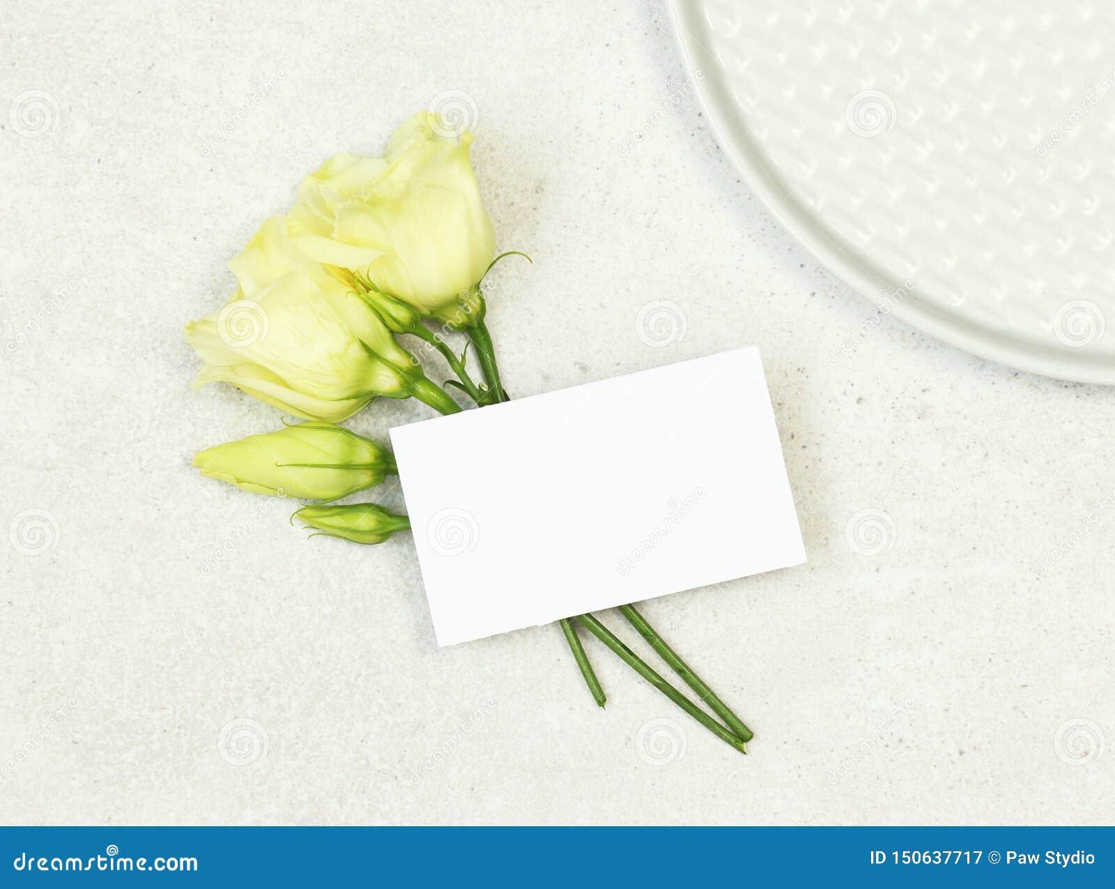 Mockup poślubia imię kartę