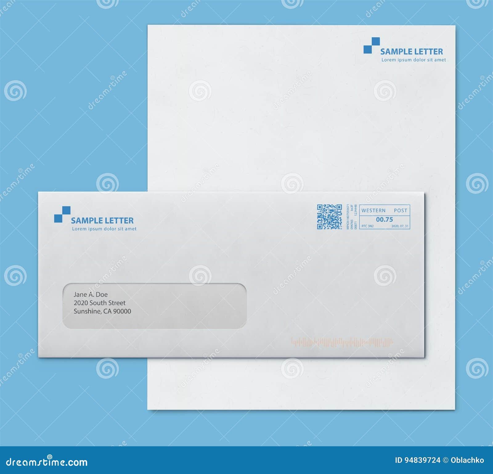 Mockup post envelope and letter paper template stock vector download comp spiritdancerdesigns Images
