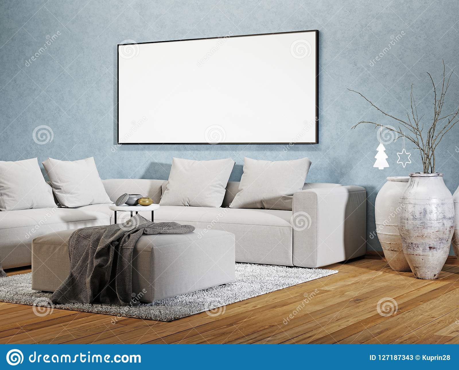 Modern interior of living room foto poster wandbilder bei
