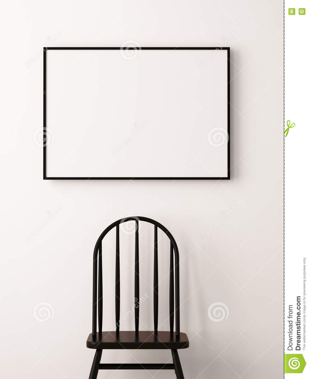 Mockup Posters In The Frame On A Light Background In The Interior ...