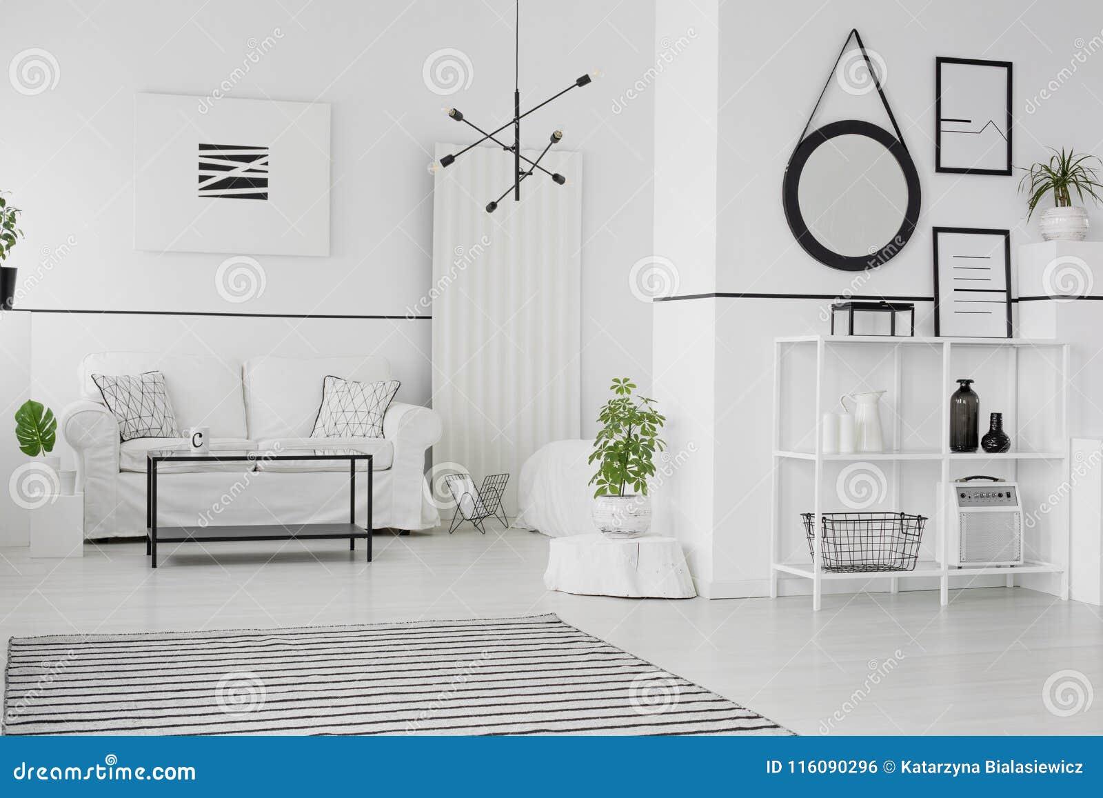 Mockup in scandinavian living room