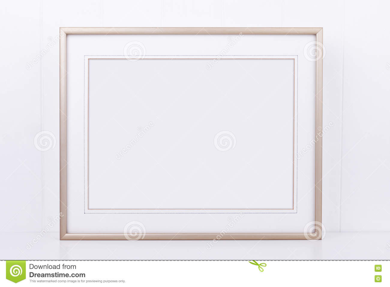 Mockup Styled Stock Photography With Landscape Gold Frame Stock ...