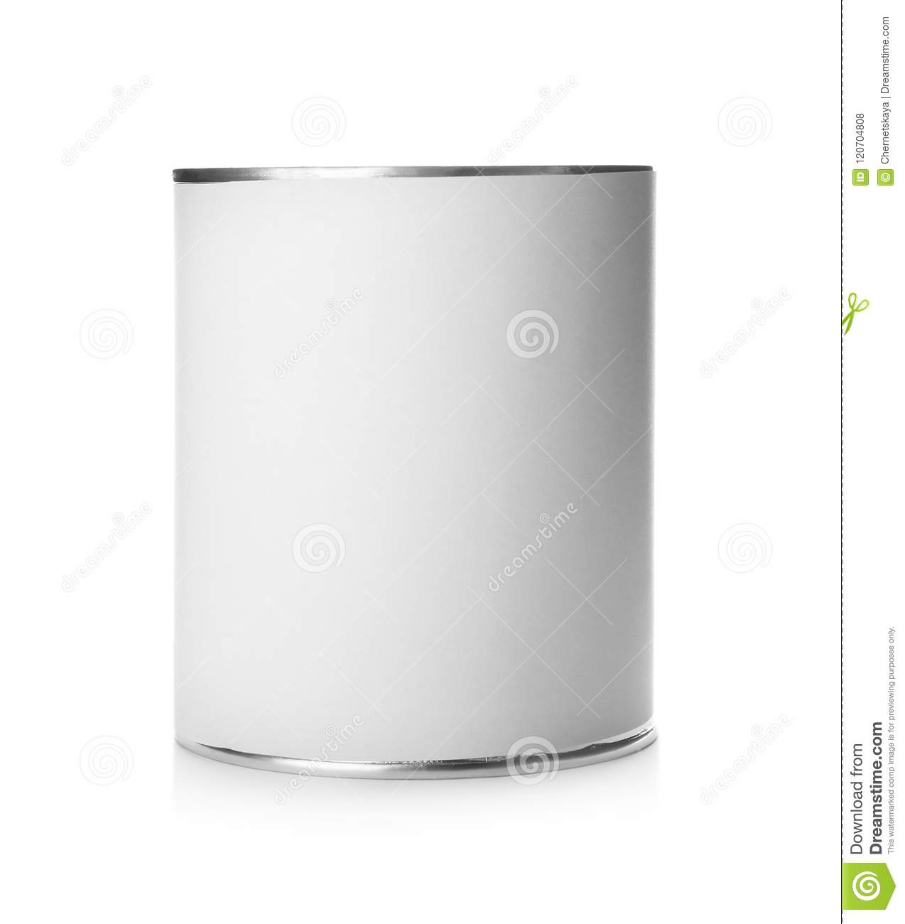 Mockup of tin can