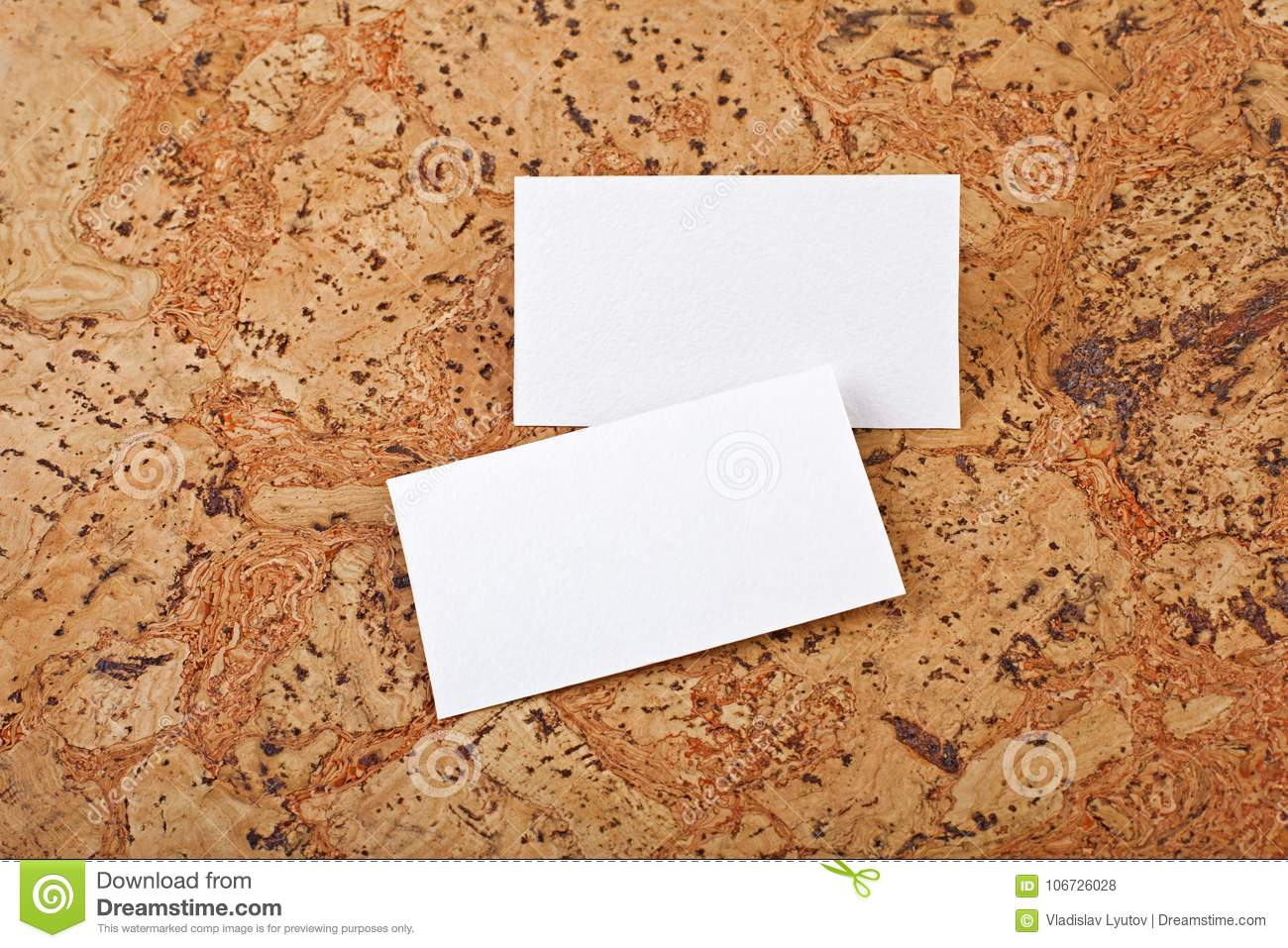Mockup of white business cards at a cork background stock photo download mockup of white business cards at a cork background stock photo image of message colourmoves