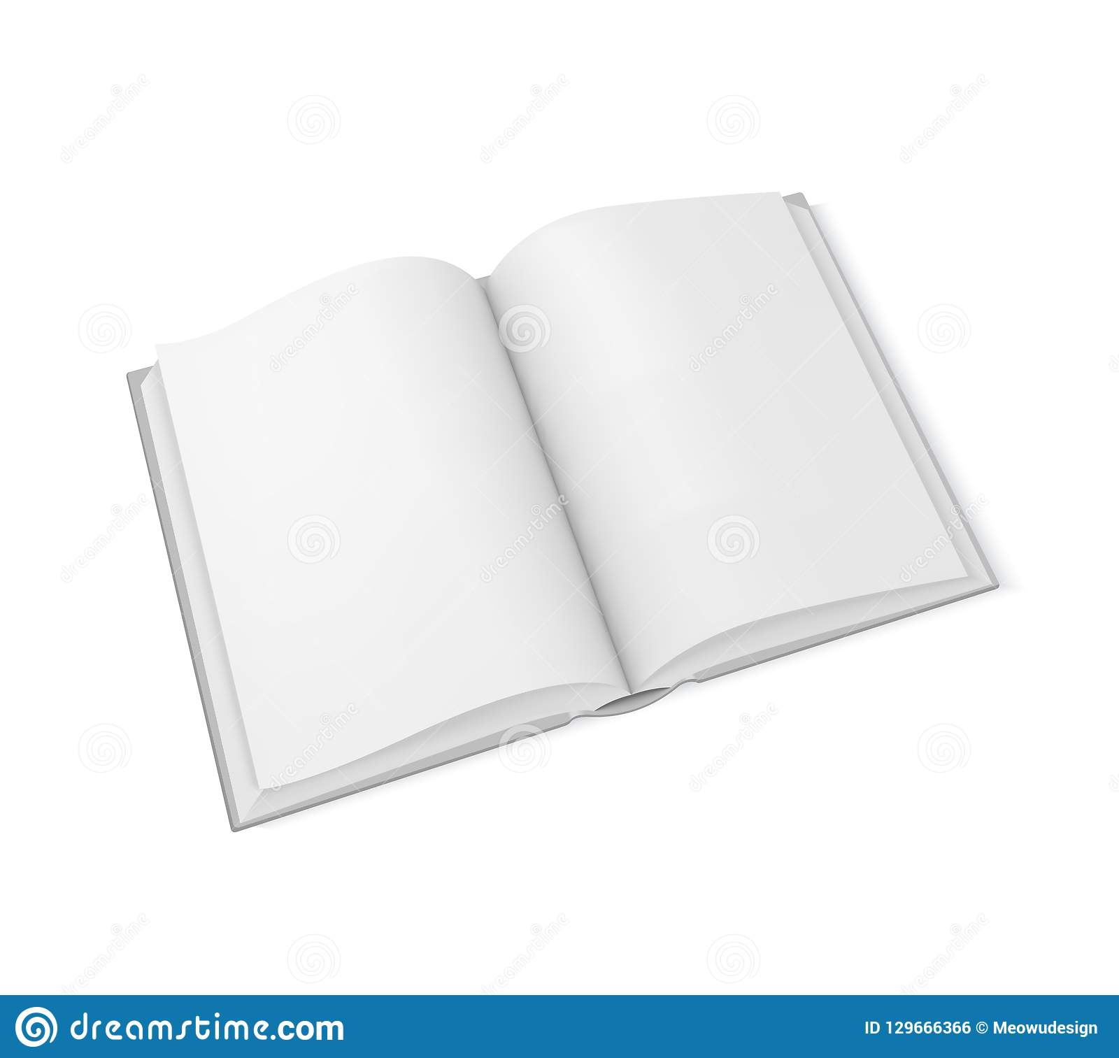 vector mockup open book template for design stock vector