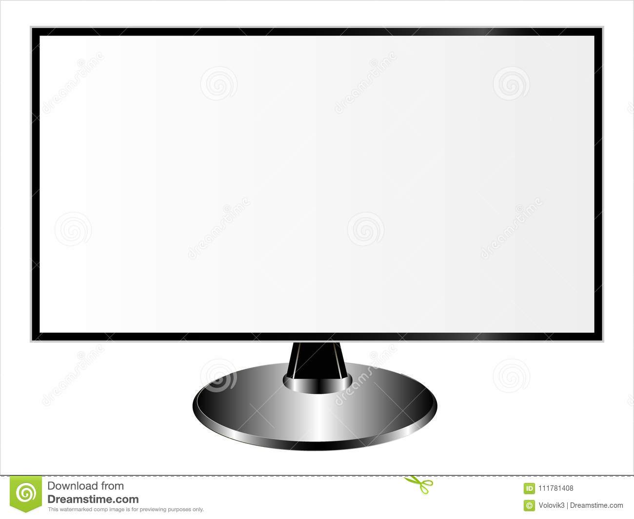 Mockups of a monitor, a tablet computer and a smartphone on a white background.