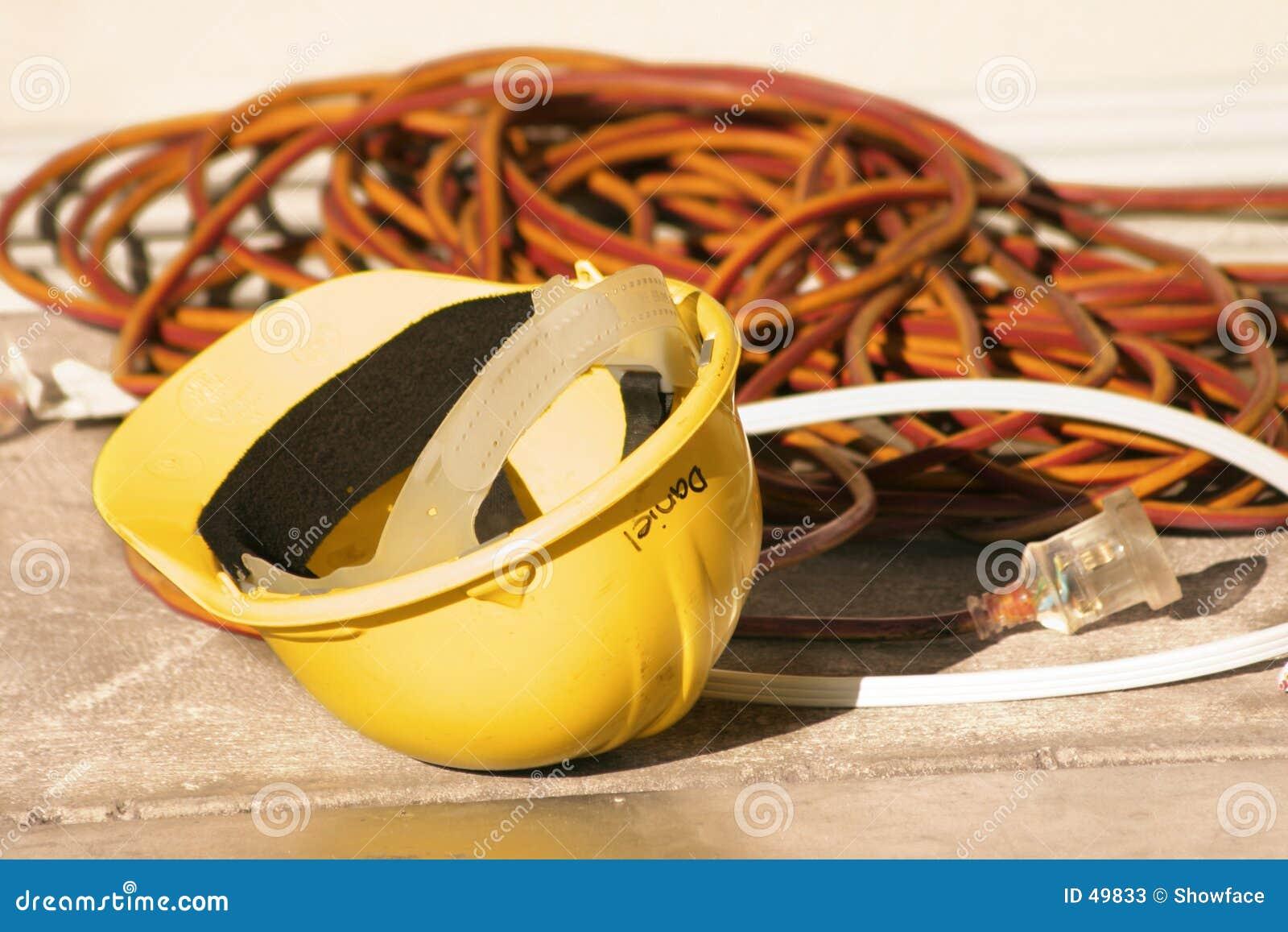 Mocniej elektryczne przewody kapelusza