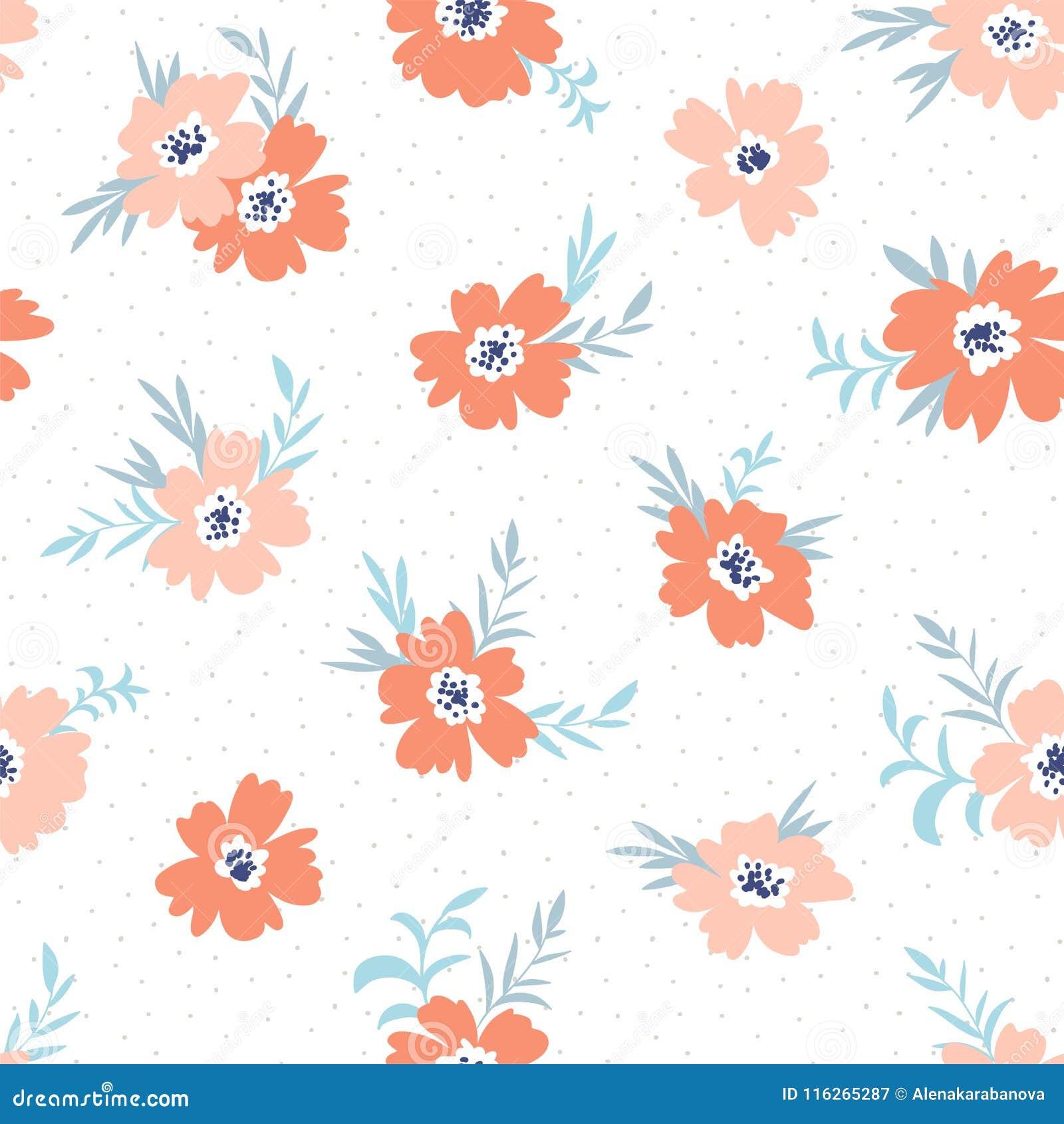 mod le cervel floral sans couture de vecteur la mode conception de tissu avec les fleurs. Black Bedroom Furniture Sets. Home Design Ideas